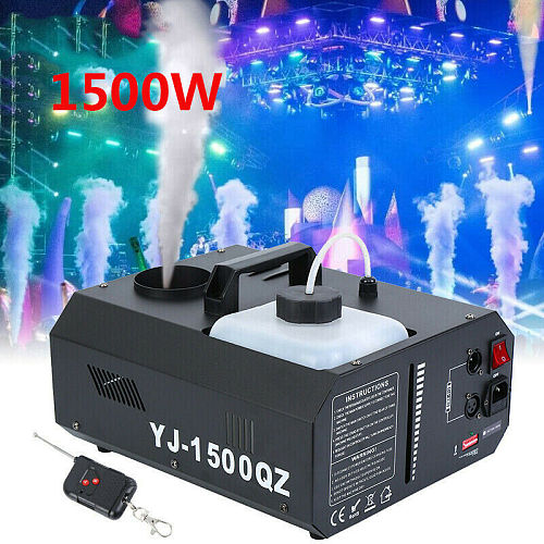 Yonntech 1500W Fog Smoke Machine Vertical Fogger UpSpray Smoke Shot Fog DMX Machine w/ Wireless Remote Control