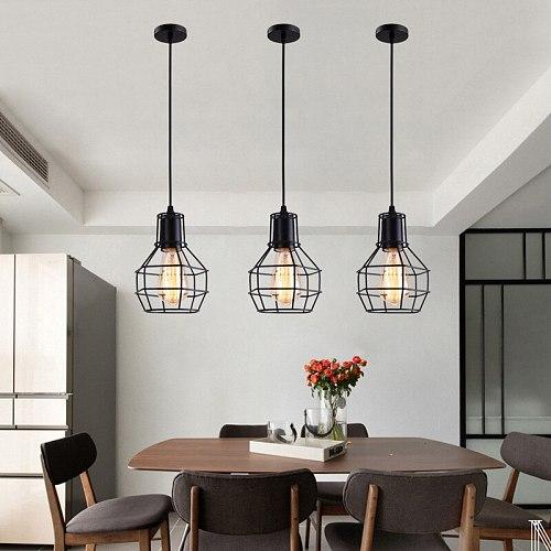 Industrial Pendant Lights Vintage Iron Hanglamp For Dining Room Bedroom Retro Restaurant Bar Decor Loft E27 Luminaire Suspension