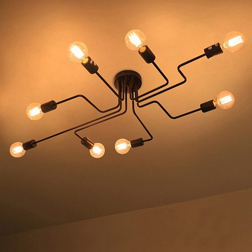 Retro Wrought Iron Pendant Lights Black Industrial Edison Suspension Luminaire Bar Coffee Light Vintage Kitchen Restaurant Lamp