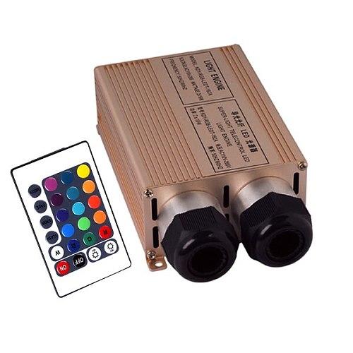 AC100~256V Gold RGB Double Head 32W Fiber Engine 2*16W fiber optic light engine with Remote