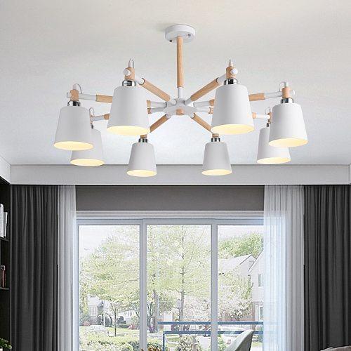 Nordic LED Chandelier for Room Kitchen Hall Hanging Pendant Lamp Vintage Indoor Lighting Decor Fixture