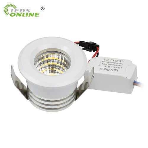 4pc/pack Small Spot it Downlights COB 3W led spots 220v dimmable Light ceiling recessed spot LED recessed spot light