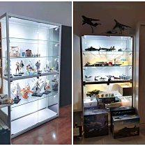 1Pc Figures Showcase LED Spotlight Exhibition Cabinet Spotlight for Mall Silver