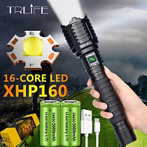 XHP160 Most Powerful Flashlight 16-cores Light Brightest XHP100.2 Lantern 10000MAH Usb Rechargeable Torch Tactical Hunting Torch