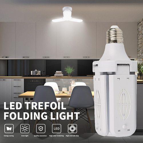 LED Bulb E26 30/40W Lamp Ceiling Fan Lampada Led Light 220V Foldable Adjustable Fan Blade Angle For Home Garage Lighting