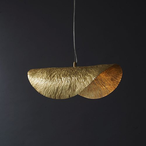 UMEILUCE 18.2 Inchs Copper Pendant Light Luxury Hanging Lamp for Dining Room Shop Bar Decoration Lighting