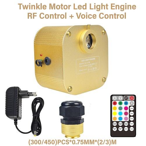 16w rgbw led ceiling star light car use Music/RF control twinkle led fibra optica plastica kit with 300/450pcs fiber optic cable