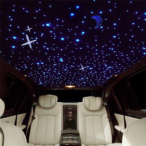 DC12V 6W RGB Car Roof Star Light Interior LED Starry Laser Atmosphere Lights Fiber Optic Star Ceiling Kit Light 150pcs/200pcs