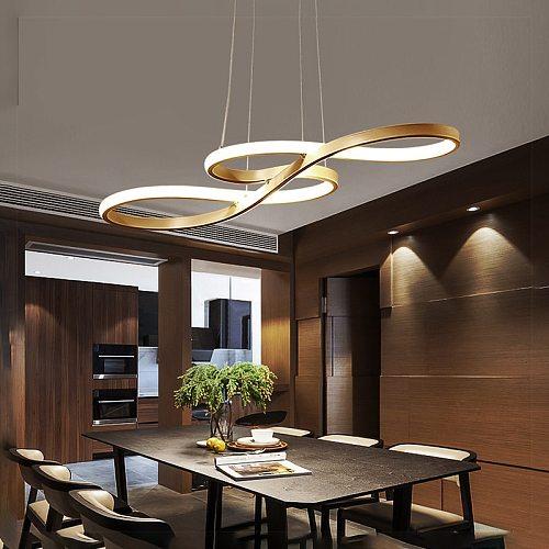 Modern Pendant Chandelier for Office Dining room Kitchen Aluminum Lustre Nordic Living Room Chandelier Lighting fixtures
