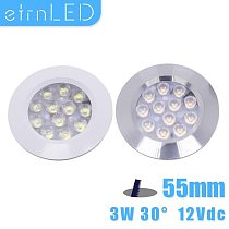 etrnLED DC12V Led Downlight Recessed of Ceiling Dimmable Mini Spot Ultra Thin 3W Round Lamp Down Light Indoor Home Living Room