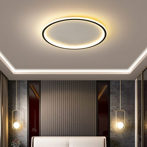NEO Gleam Modern led Ultra-thin Chandelier for living Room bedroom App RC Square/Round ceiling chandelier fixtures 90-260V