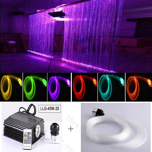 Safely non-electricity Fiber optic led twinkling stars led waterfall curtain lights
