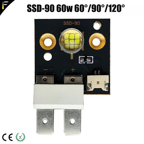 SSD-90 60w 75w 90w Led Follow Spot Light Projector DIY Cold White Light LED Moving Head Light Leds SSD90 DIY Spare Parts