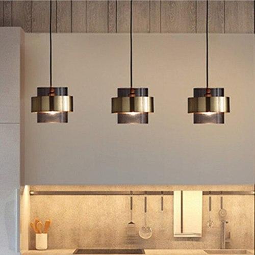 Postmodernism Glass Metal Pendant Lights Creative Bedroom Bedside Light Restaurant TV Background Wall Suspension Light Fixtures