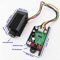 tgleiser 532nm 200mw green laser module RGB stage lighting accessory laser diode focus TTL 12V laser