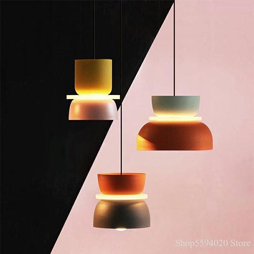 Designer's Lustre Pendant Lights Simple Modern Pendant Lights Halo Hanglamp Nordic Loft Lustres Makaron Lamparas Lighting