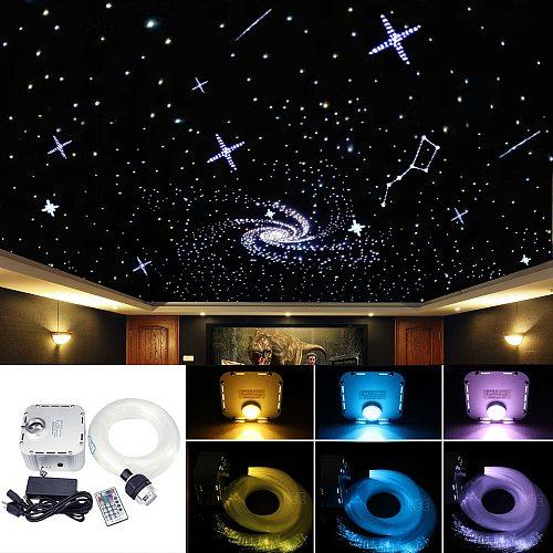 32W RGB 4-speed LED  Fiber Optic Starry Sky ceiling kit light 550 strands(0.75+1+2+3mm) 2M Optical Fiber+28Key Remote