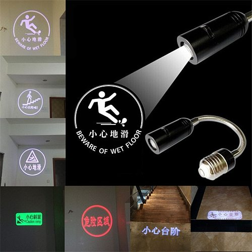 GYLBAB e27 Logo projection indoor House number sign guide symbol mark indicator advertising gobo custom door plate welcome