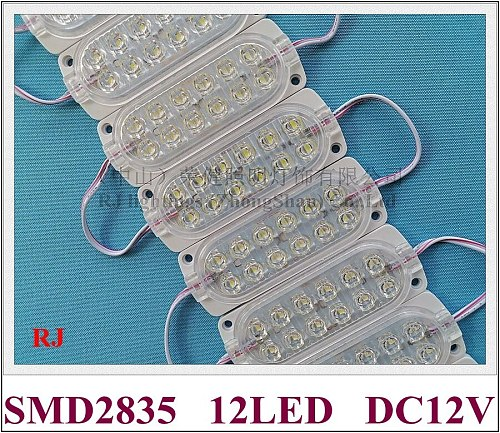 LED module light DC12V/DC24V 2.4W 300lm SMD2835 12led 104mm*37mm waterproof IP65 Truck light Long vehicle Warning Contour light