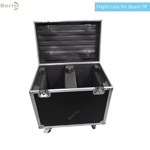 No Tax Dual flight case for beam 7r 230 sharpy beam lyre 230W 7R beam moving head lights with wheels fly case moving head beam