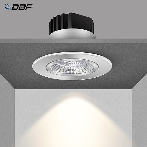 [DBF]Adjustable Angle Dimmable LED COB Downlights 6W 9W 12W 18W Recessed Ceiling Lamp AC110V 220V Round Spot Light Home Decor