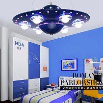 Ufo Kids Room Pendant Lights With Remote Control Lustre Enfant Hanging Lamp For Children Babyroom Room Bedroom Fixture Light