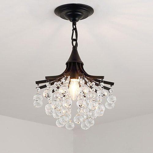 Merican Small Crystal Chandelier Lighting For Bedroom Study Room Ceiling Chandeliers Gold Black Lustre Cristal Light Fixtures
