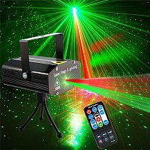 DJ Disco Stage Laser Light Projector Strobe Party Lights Stage Lighting with Remote Control for Disco Party Club KTV Christmas
