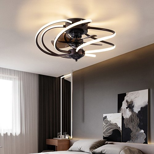 Bedroom decor led invisible ceiling fan light lamp dining room ceiling fans with lights remote control lamps for living room