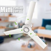 12V 6W 3 Leaves Silent Mini Ceiling Fan With Switch for Household Dormitory Student Summer Sleep Anti-mosquito Energy Saving