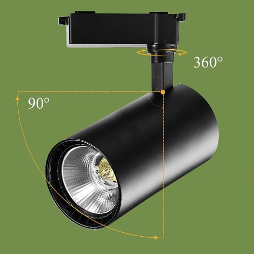COB Led Track Light Rail 0.5M Head Spotlight T Track Lighting System Spot Lights Lamps For Home Living Room Bedroom Shop