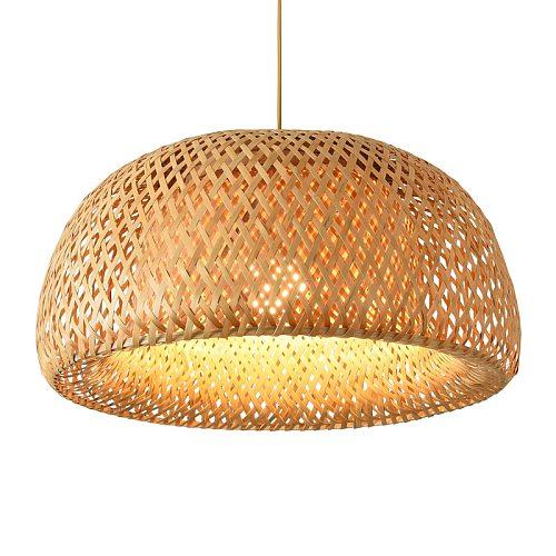 Nordic Pendant Lamp  Wooden Pendant Weaving Bamboo Hanging Lamp Retro Garden Restaurant Study Bedroom Living Room Lamp lightIing