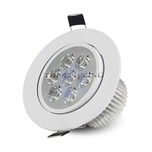 1pcs Super Bright LED Downlight Ceiling silvery 3W 9W 12W 15W 21W Warm white/Cold white led light AC 220V 230V Indoor Spot Light
