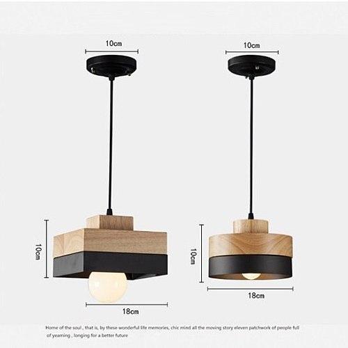 LuKLoy Wood Pendant Lights LED Kitchen Lights LED Lamp Bedside Hanging Lamp Ceiling Lamps Bedroom Living Room Lighting Fixtures