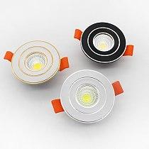 LED SCR dimming spotlight 3w 5w embedded COB ceiling lamp 110v 220v home lighting fixture