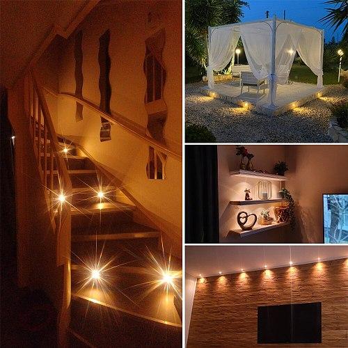 1W 12V Mini LED Downlight IP65 Spotlight Stair Ceiling Light Black White Silver Shell Spot light Cabinet Lights with Transformer