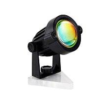 Retro Sunset Spotlight Projection Light Rainbow Night Background Home Indoor Room Decor Projector Decoration Photography Lamp