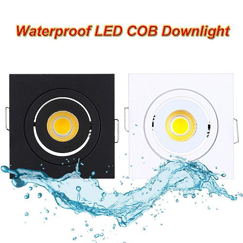New Design Square Round Dimmable Waterproof IP65 Downlight Lamps 3W Led Ceiling Lamp Home Indoor Outdoor Lighting For Garden