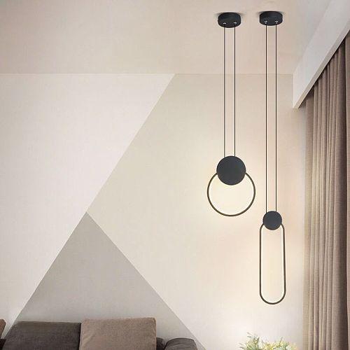 Bedside lamp chandelier decoration bedroom modern creative long line bar room small Chandelier