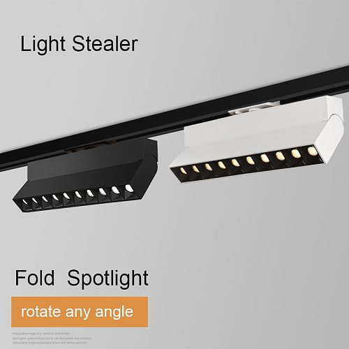 Folding Track Light Industrial LED Adjustable Angle Office Clothing Store Background Wall AC110-220V Linear Spotlight