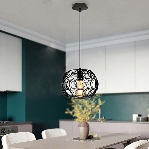 Retro Loft Industrial Iron Pendant Lights Modern Metal Cage E27 Led Hanging Lamp Indoor Kitchen Living Room Bedroom Restaurant