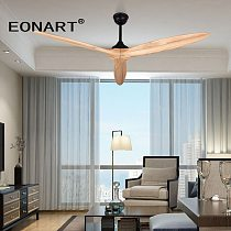 EONART 60 Inch modern without light ceiling fan with remote control  fashion dc fan for wood decoration ceiling fans for home