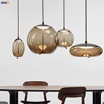 IWHD Nordic Glass LED Pendant Lights Fixtures Dinning Living Room Hanging Light Modern Pendant Lamp Lighting Luminaire Hanglamp