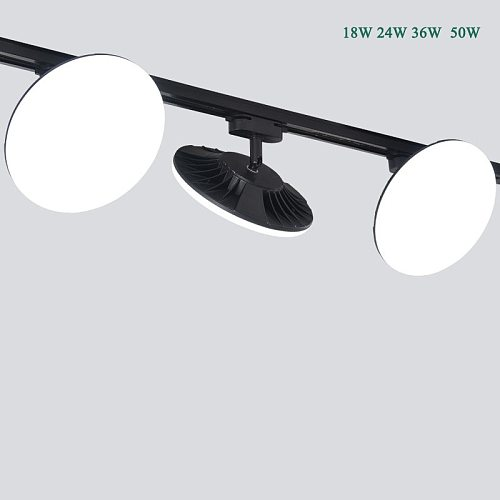 High Quality Led Track Lights High Lumen Ra85 Smd2835 Spot Light 18w 24w 36w 50W Track Lighting Housing 2 Wire No Flicker