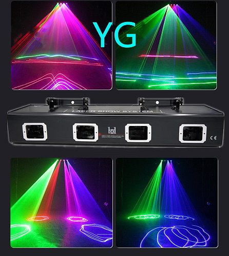 The New 4 Lens Bar DJ Laser Red Green Blue Pink Laser Beam Line Scan Disco Lazer Good Use For Home Party KTV Night CLub Bar