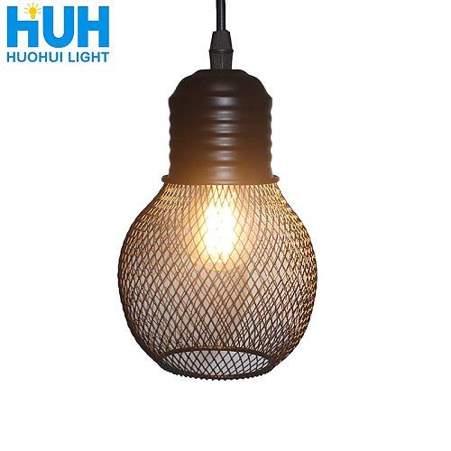Vintage Grid Pendant Lamp E27 Base Iron Industrial Style Home Lighting Restaurant Living Room Bed Room Suspension Light fixture