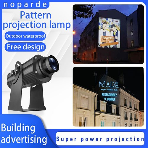 200W300W Waterproof projector lamp Led Commercial Advertising far distance custom logo light outdoor logo projector