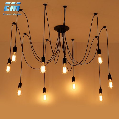 Nordic Spider Industrial Pendant Lamp E27 120cm 150cm 200cm Loft Edison Industrial Hanging lamps Length  Pendant Lights ZDD0009