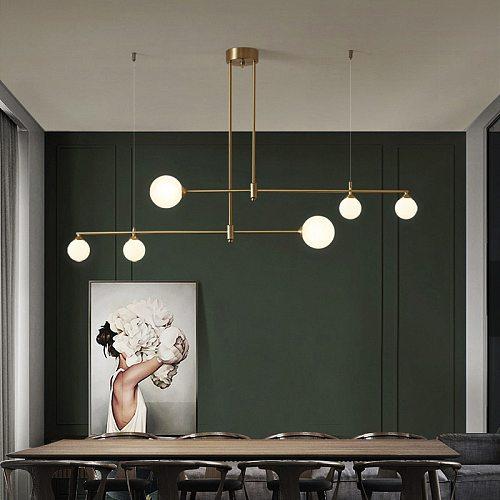 Nordic G9 Golden Copper Chandelier For Dining Room Kitchen Island Table Hanging Lighting Indoor Decoration Ceiling Pendant Lamp