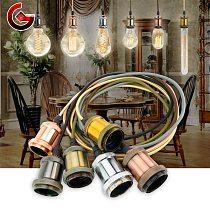 1 Meter E27 LED Pendant Lights Retro Edison Aluminum Lamp Holder 110V 220V Industrial Lamp Vintage Decor Hanging Lamp